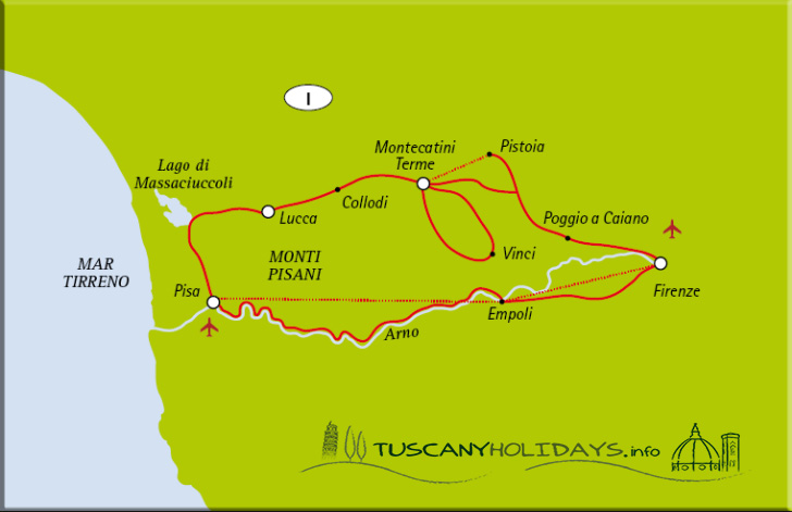 Map of the Itinerary